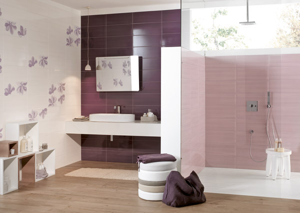 Ciasam tutto per l 39 edilizia ceramiche idrosanitari - Piastrelle bagno mosaico viola ...